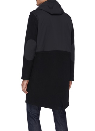 Back View - Click To Enlarge - HERNO - Fixed Hood Herno-Tech Melton Wool Parka