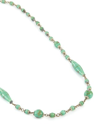 Detail View - Click To Enlarge - LANE CRAWFORD VINTAGE ACCESSORIES - Green Glass Bead Necklace