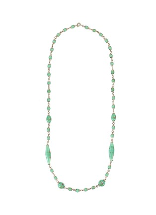 Main View - Click To Enlarge - LANE CRAWFORD VINTAGE ACCESSORIES - Green Glass Bead Necklace
