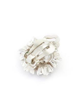 Detail View - Click To Enlarge - LANE CRAWFORD VINTAGE ACCESSORIES - Pennino diamanté flower stud earrings