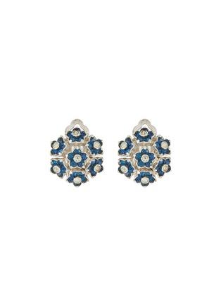 Main View - Click To Enlarge - LANE CRAWFORD VINTAGE ACCESSORIES - Pennino diamanté flower stud earrings