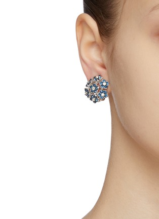 Figure View - Click To Enlarge - LANE CRAWFORD VINTAGE ACCESSORIES - Pennino diamanté flower stud earrings