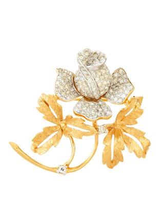 Main View - Click To Enlarge - LANE CRAWFORD VINTAGE ACCESSORIES - Diamanté flower brooch