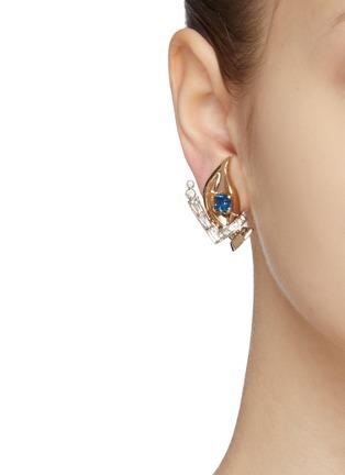 Figure View - Click To Enlarge - LANE CRAWFORD VINTAGE ACCESSORIES - Mazer diamanté earrings