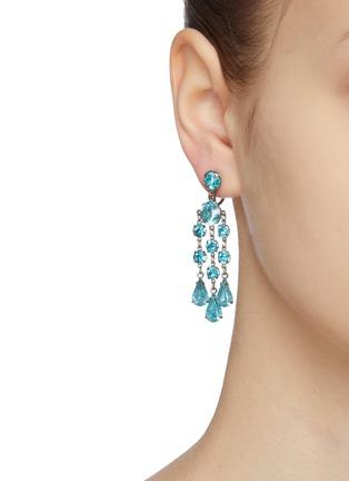 Figure View - Click To Enlarge - LANE CRAWFORD VINTAGE ACCESSORIES - Wiesner diamanté chandelier earrings