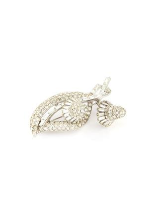 Detail View - Click To Enlarge - LANE CRAWFORD VINTAGE ACCESSORIES - Ledo diamanté flower brooch