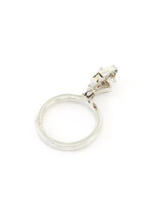 Detail View - Click To Enlarge - LANE CRAWFORD VINTAGE ACCESSORIES - Trifari Baguette Set Diamanté Hoop Drop Earrings