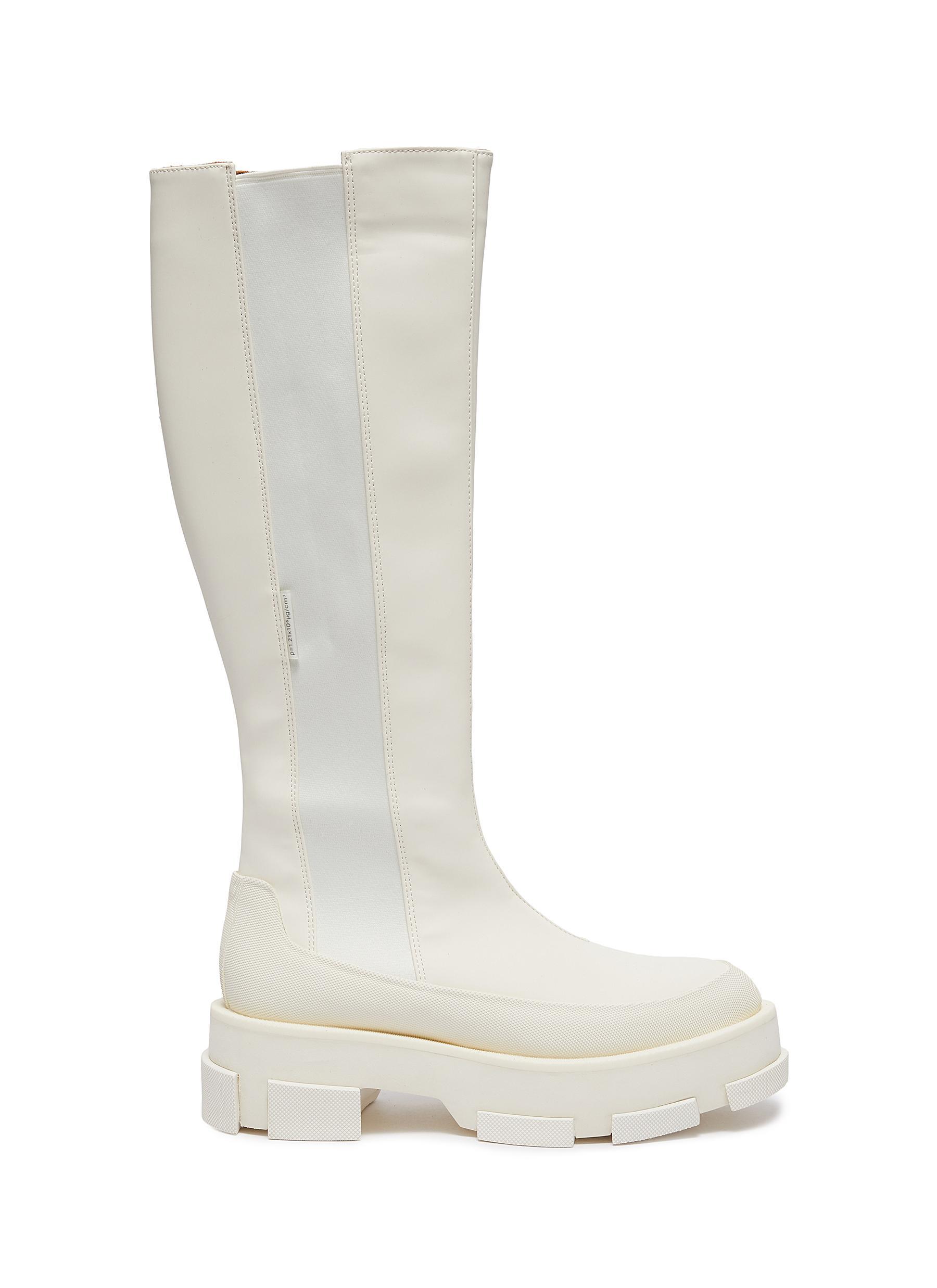 Gao Combat Platform Leather Boots
