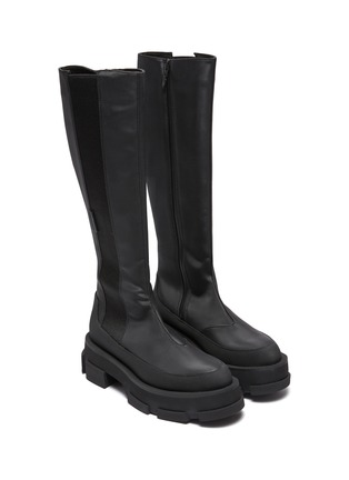 Detail View - Click To Enlarge - BOTH - Gao Knee Platform Stretch Leather Boot
