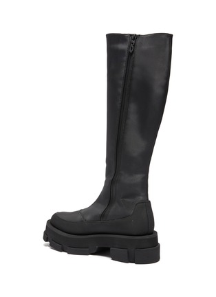 - BOTH - Gao Knee Platform Stretch Leather Boot