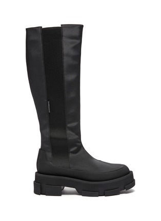 Main View - Click To Enlarge - BOTH - Gao Knee Platform Stretch Leather Boot