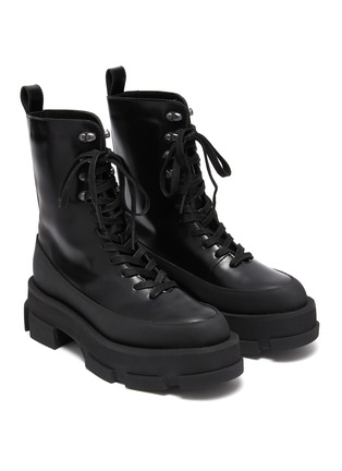 Detail View - Click To Enlarge - BOTH - Gao Combat Platform Leather Boots