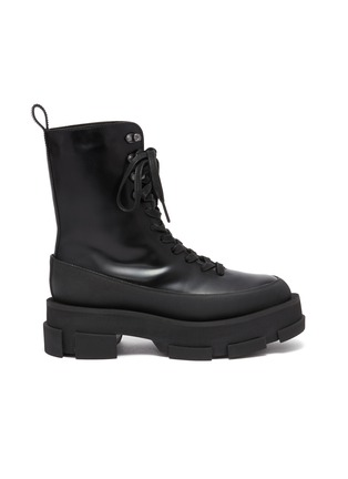 Main View - Click To Enlarge - BOTH - Gao Combat Platform Leather Boots
