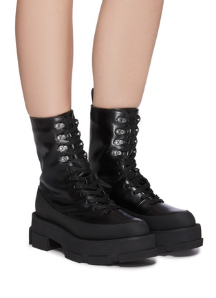 Figure View - Click To Enlarge - BOTH - Gao Combat Platform Leather Boots