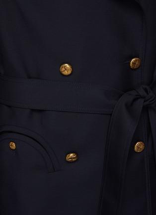 - BLAZÉ MILANO - First Class' Virgin Wool Blend Trench Coat