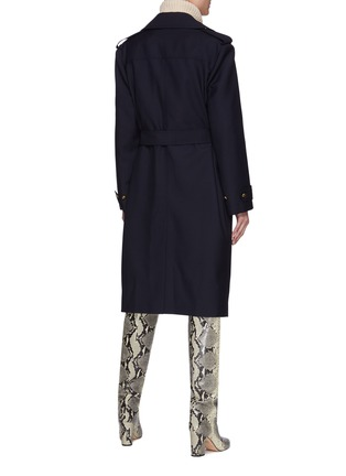 Back View - Click To Enlarge - BLAZÉ MILANO - First Class' Virgin Wool Blend Trench Coat