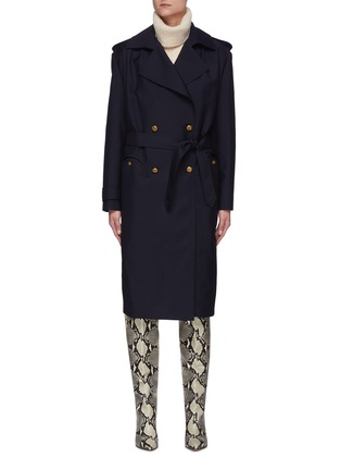 Main View - Click To Enlarge - BLAZÉ MILANO - First Class' Virgin Wool Blend Trench Coat