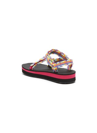 Detail View - Click To Enlarge - TEVA - Midform Universal' Fray Rainbow Velcro Strap Toddler and Kids Sandals