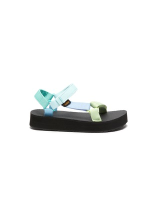 Main View - Click To Enlarge - TEVA - Midform Universal' Pastel Velcro Strap Toddler and Kids Sandals