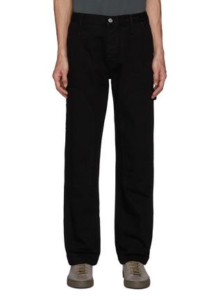 Main View - Click To Enlarge - FRAME DENIM - Side Pockets Constrasting Stitching Carpenter Pants