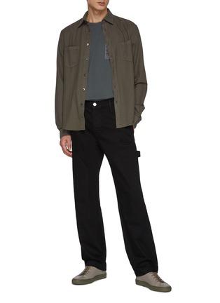 Figure View - Click To Enlarge - FRAME DENIM - Side Pockets Constrasting Stitching Carpenter Pants