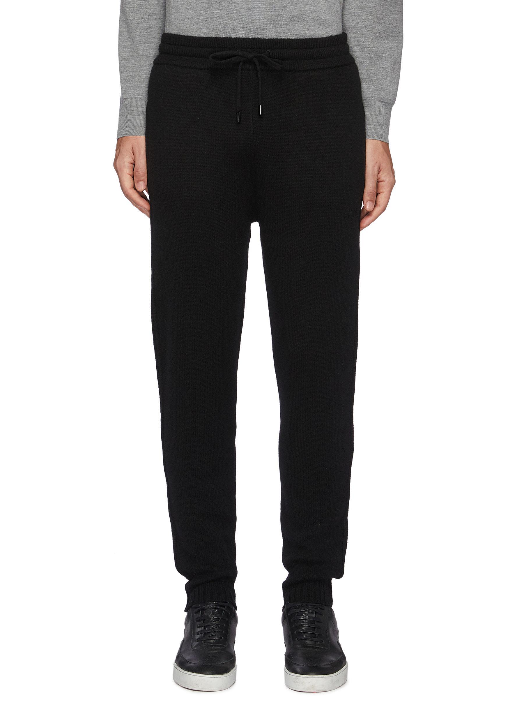 The Sweater' Drawstring Wool Jogger Pants