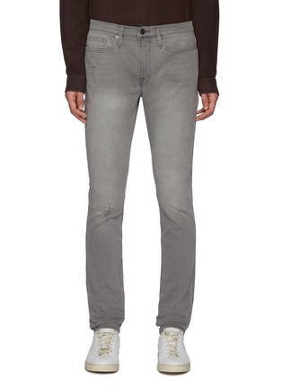 Main View - Click To Enlarge - FRAME DENIM - L'Homme' Ripped Washed Skinny Jeans