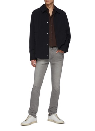Figure View - Click To Enlarge - FRAME DENIM - L'Homme' Ripped Washed Skinny Jeans