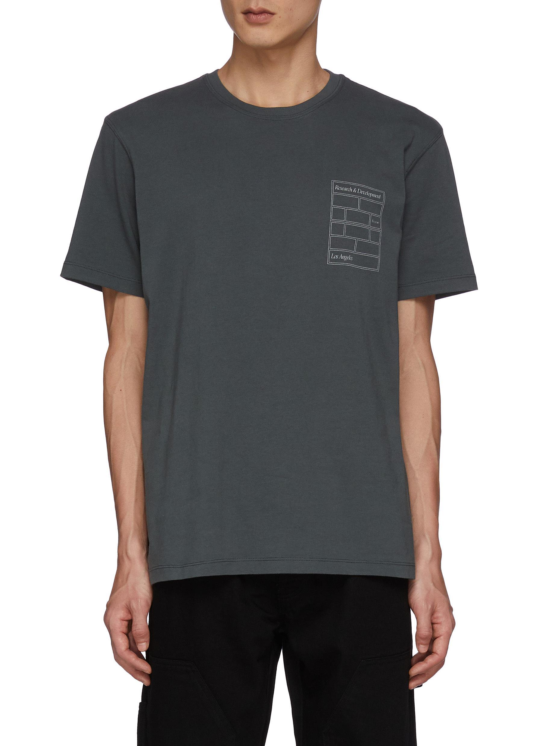 Printed Text Cotton Crewneck T-Shirt