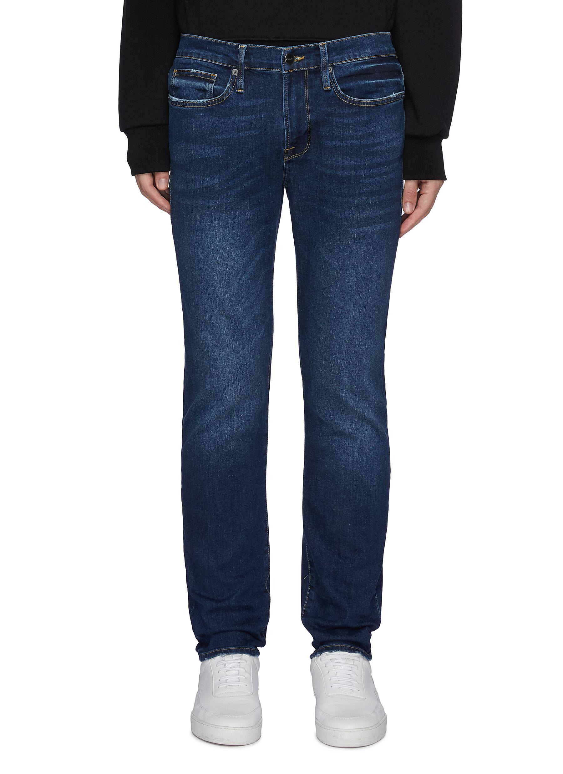 Whiskering Details Purify L'Homme Dark Wash Skinny Jean