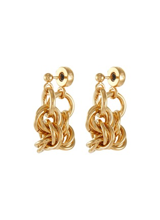 Main View - Click To Enlarge - JW ANDERSON - Round Link Chain loop-back earrings