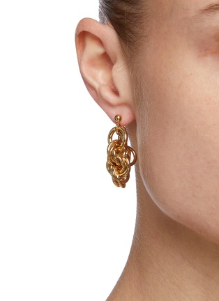 Figure View - Click To Enlarge - JW ANDERSON - Round Link Chain loop-back earrings