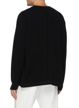 Back View - Click To Enlarge - THE ROW - Diatton' Cashmere Long Sleeved Crewneck Sweater