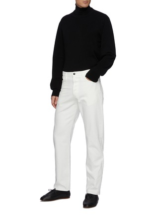 Figure View - Click To Enlarge - THE ROW - Diatton' Cashmere Long Sleeved Crewneck Sweater
