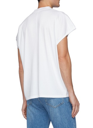 Back View - Click To Enlarge - THE ROW - Duke' Cap Sleeved Crewneck Cotton Top