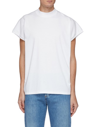 Main View - Click To Enlarge - THE ROW - Duke' Cap Sleeved Crewneck Cotton Top