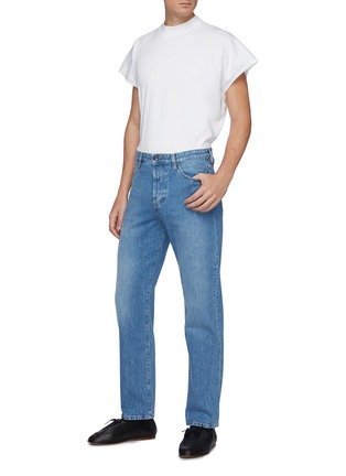 Figure View - Click To Enlarge - THE ROW - Monroe' Monkey Wash Straight Leg Jeans