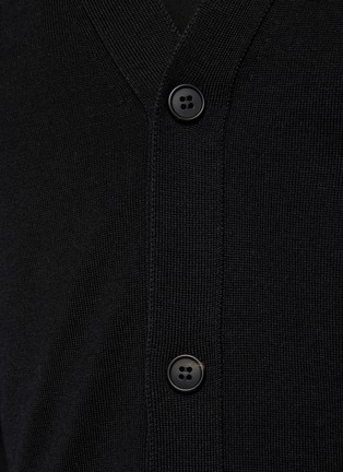 - THE ROW - Crispin' Button Up Silk Wool Blend Cardigan