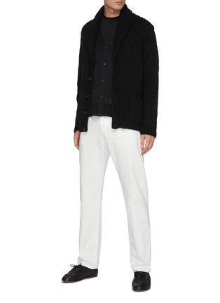 Figure View - Click To Enlarge - THE ROW - Crispin' Button Up Silk Wool Blend Cardigan