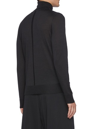 Back View - Click To Enlarge - THE ROW - Emile' Turtleneck Wool Blend Sweater