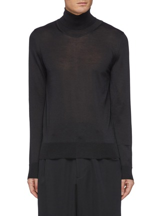 Main View - Click To Enlarge - THE ROW - Emile' Turtleneck Wool Blend Sweater