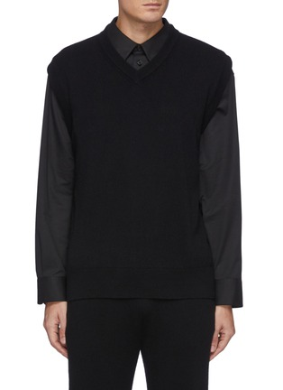 Main View - Click To Enlarge - THE ROW - Dabrino' V Neck Cashmere Vest