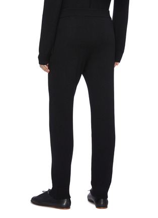 Back View - Click To Enlarge - THE ROW - Divier' Ribbed Waistline Cashmere Jogger Pants