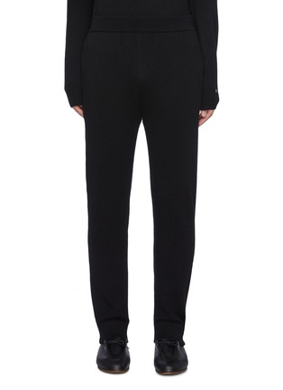 Main View - Click To Enlarge - THE ROW - Divier' Ribbed Waistline Cashmere Jogger Pants