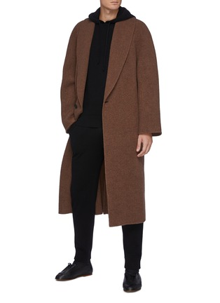 Figure View - Click To Enlarge - THE ROW - Divier' Ribbed Waistline Cashmere Jogger Pants