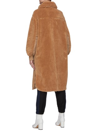 Back View - Click To Enlarge - STELLA MCCARTNEY - Luna' Logo Appliqued Faux Shearling Coat
