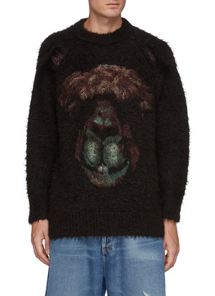 Main View - Click To Enlarge - DOUBLET - Animal Embroidey Alpaca Pullover