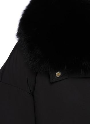 - YVES SALOMON - Fox Fur Collar Shortened Down Puffer Jacket