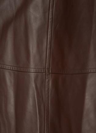 - YVES SALOMON - Lamb Leather A-line Skirt
