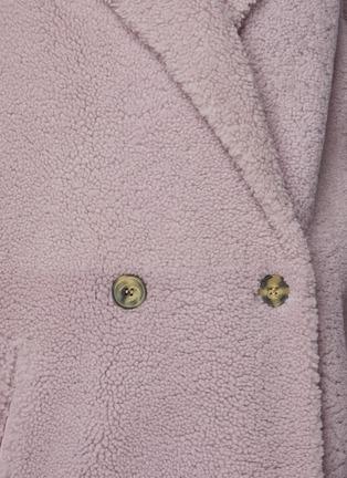 - YVES SALOMON - Lamb Merino Meteo Reversible Curly Long Double Breasted Coat